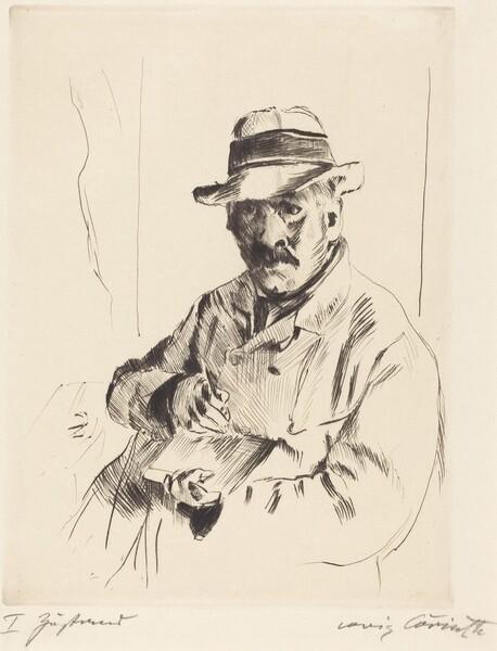 Selbstbildnis im Strohhut (Self-Portrait in a Straw Hat)