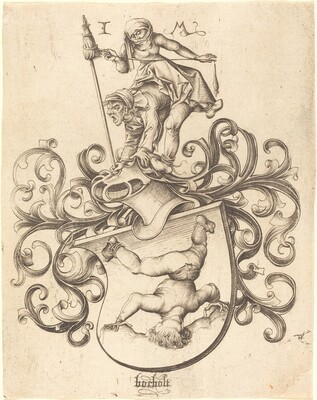 Coat of Arms with Tumbling Boy