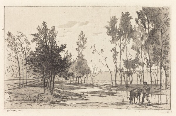Donkey at a Watering Place (L'Ane a l'abreuvoir)