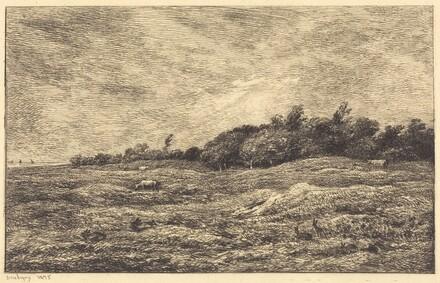 The Meadow at Grave, near Villerville  (Le Pre des Graves, a Villerville)