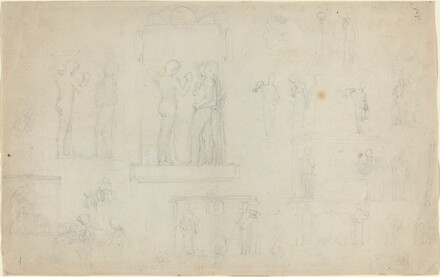 Sheet of Sketches [recto and verso]