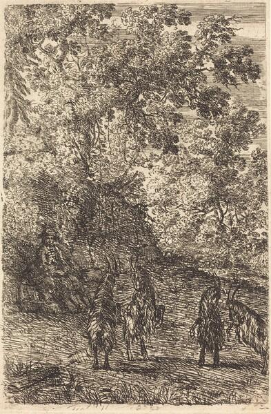 Shepherd with Four Goats (Les quatre chèvres)