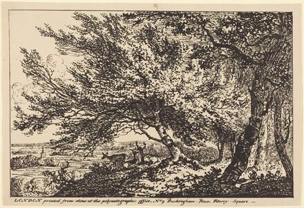 Landscape with Deer under Trees