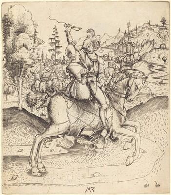 Knight and Lady on Horseback