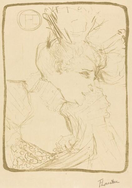 Bust of Mlle. Marcelle Lender  (Mlle. Marcelle Lender, en buste)