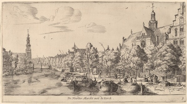 Noordenmarkt with the Noorden Kerk (De Noorder Marckt met de Kerck)