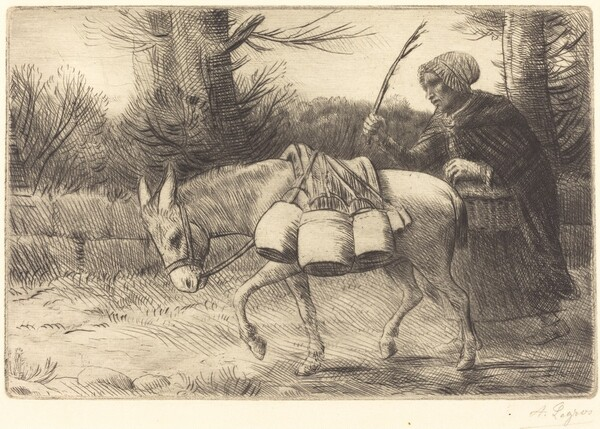 Milkmaid of Boulogne, 3rd plate (Laitiere a Boulogne)