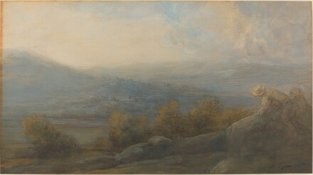 Mountain Landscape with two Figures at the Right