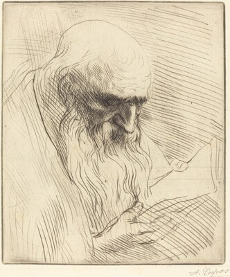 Study of the Head of a Man Reading (Etude de tete d'homme lisant)