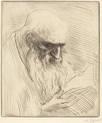 Study of the Head of a Man Reading (Etude de tete d'homme lisant)