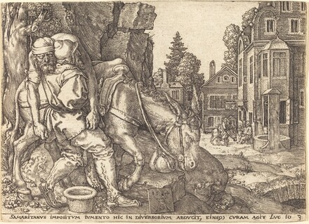 The Good Samaritan Placing the Traveler on a Mule