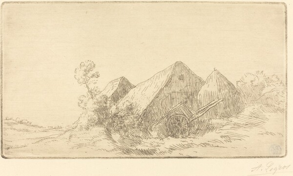 Cottage with a Cart (Chaumiere a la charette)
