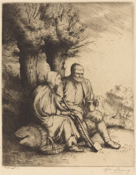 Man and Woman under a Tree