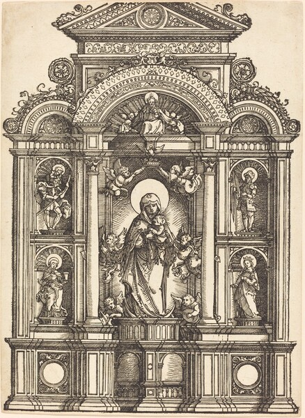 Altar with the Virgin and Child and Saints Christopher, Barbara, George and Catherine