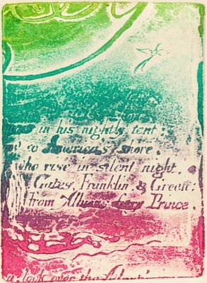 Restrike from fragment of cancelled plate forA Prophecy