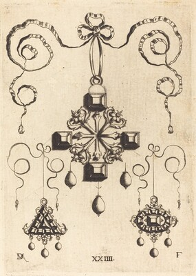 Pendant with Double Cross at Centre, Surrounded by Four Large Table-Stones