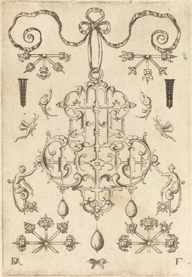 Large Pendant with Three Drops Below