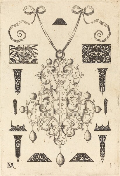 Large Pendant, Surrounded by Thirteen Studs