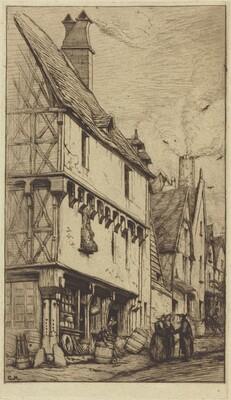 Ancienne habitation à Bourges, dite La Maison du Musicien (An Old House at Bourges, Sometimes Called the Musician's House)
