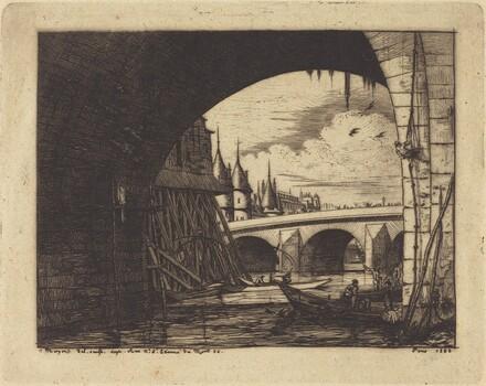 L'arche du Pont Notre-Dame, Paris (An Arch ofthe Notre-Dame Bridge, Paris)
