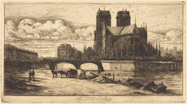 L'abside de Notre-Dame de Paris (The Apse of the Cathedral of Notre Dame, Paris)