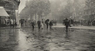 image: A Wet Day on the Boulevard—Paris