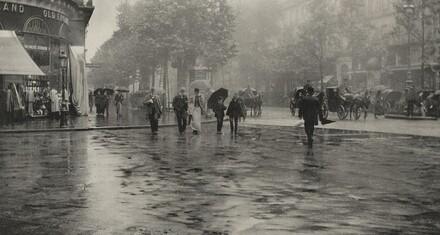 A Wet Day on the Boulevard--Paris