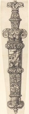 Design for a Dagger Sheath with Cain and Abel