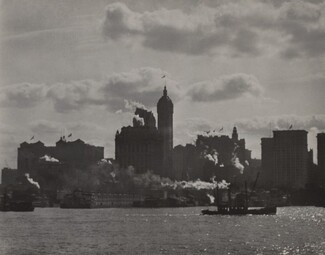 image: Singer Building from Hudson River