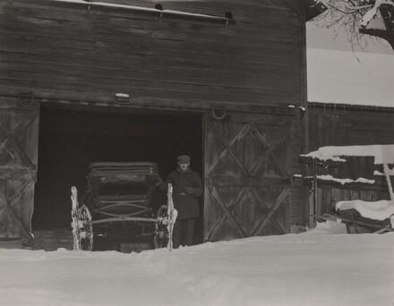 Barn, Carriage & Snow