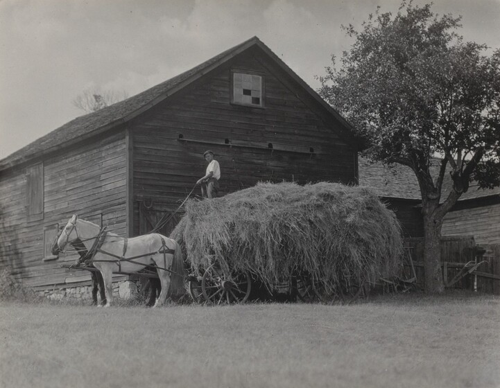 The Hay Wagon and Barn