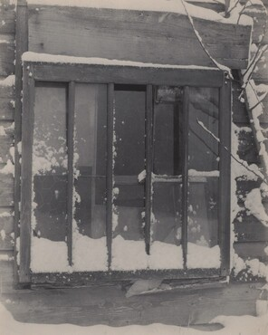 image: Window: Wood, Glass, Snow
