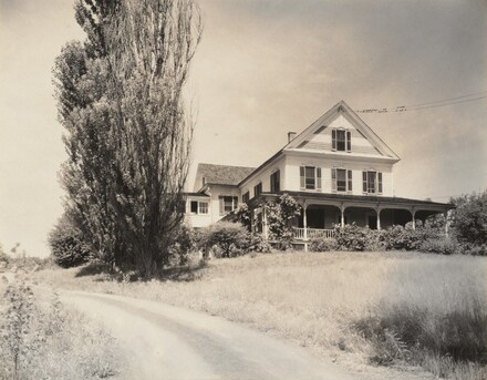 House and Poplars, Lake George