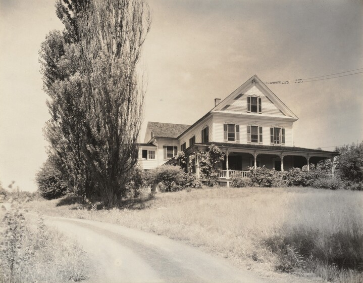 House and Poplars, Lake George