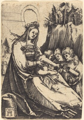 Mary with Child and Two Boys