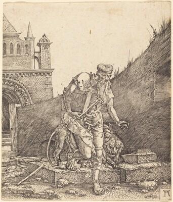 Saint Jerome in a Courtyard