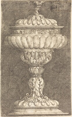 Covered Goblet with Winged Ball