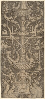 Ornament Panel with Dragons, Masks, and Instruments of War