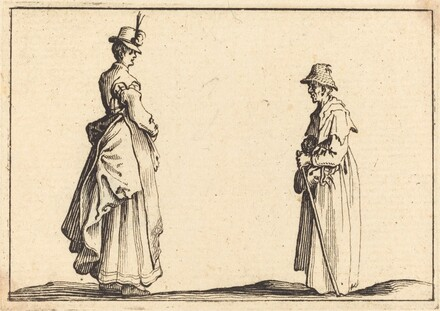 Two Women in Profile