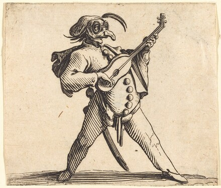 The Masked Comedian Playing a Guitar