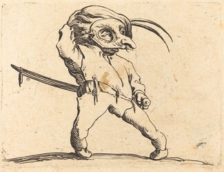 Masked Man with Twisted Feet