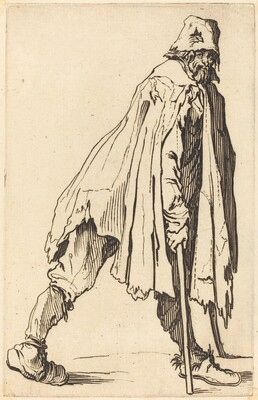 Beggar with Crutches and Cap