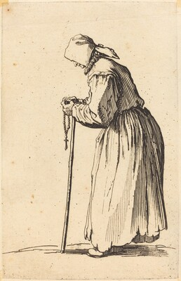 Beggar Woman with Rosary