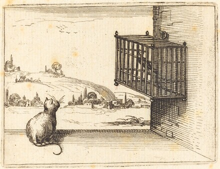 Cat Watching Caged Bird