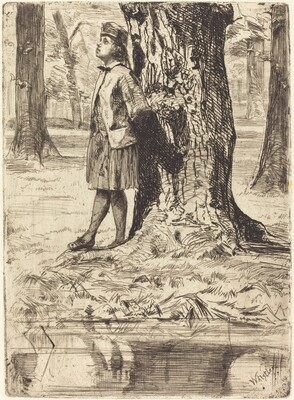 Seymour Standing under a Tree