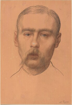 Head of a Man  (Possible Portrait of Professor E.D. Adams)