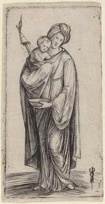 Woman and Child with Distaff