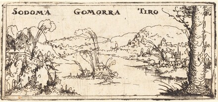 Landscape with Three Burning Cities: Sodom, Gomorrah and Tyrus