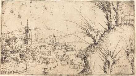 Landscape with a Town at Left