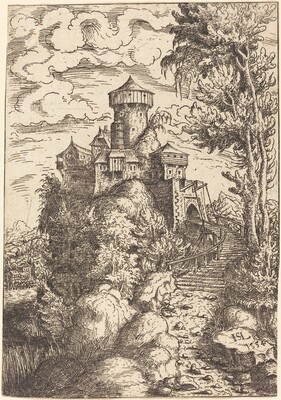 Landscape with a Fortress and Big Stairway